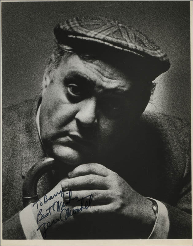 Image 1 for Zero Mostel - Autographed Inscribed Photograph - HFSID 321879