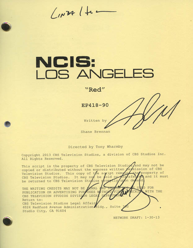 Image 1 for Ncis: Los Angeles TV Cast - Script Signed co-signed by: Chris O'Donnell, Linda Hunt, Ll Cool J - HFSID 321900