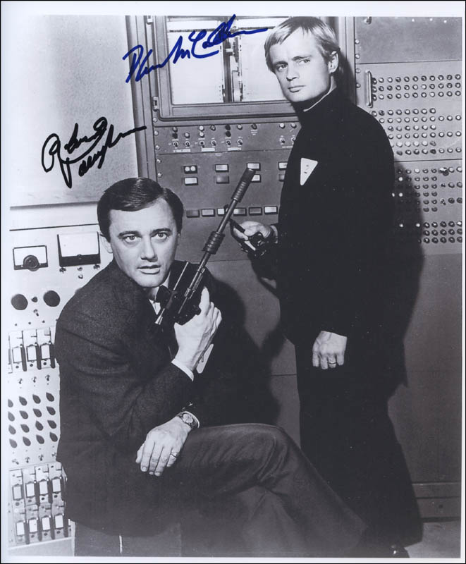 Image 1 for The Man From U.N.C.L.E. TV Cast - Autographed Signed Photograph co-signed by: David Mccallum, Robert Vaughn - HFSID 321910