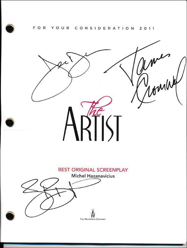 Image 1 for The Artist Movie Cast - Script Signed co-signed by: James Cromwell, Jean Dujardin, Berenice Bejo - HFSID 321924