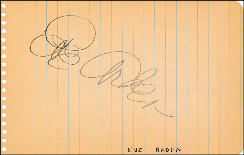 Image 1 for Eve Arden - Autograph - HFSID 321976