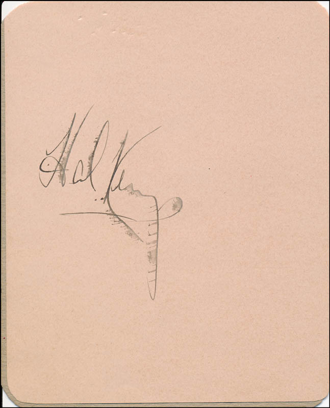 Image 1 for Hal Kemp - Autograph - HFSID 322057