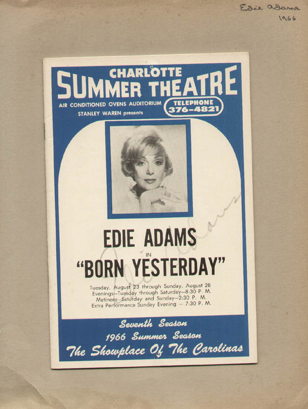Image 1 for Edie Adams - Show Bill Signed Circa 1966 - HFSID 322079