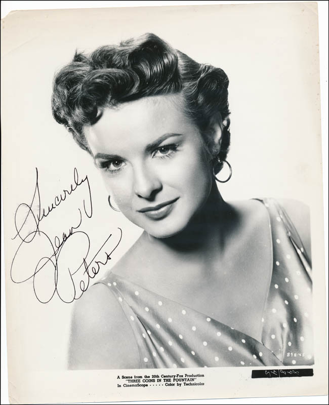 Image 1 for Jean Peters - Autographed Signed Photograph - HFSID 322092