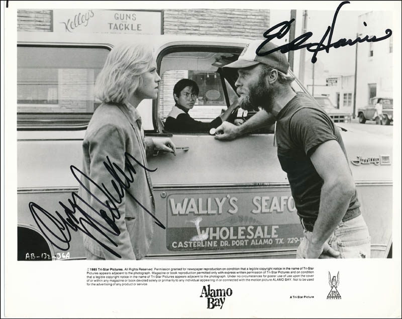 Image 1 for Alamo Bay Movie Cast - Autographed Signed Photograph co-signed by: Amy Madigan, Ed Harris - HFSID 322101