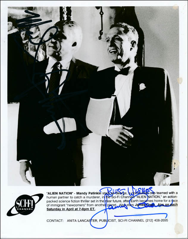Image 1 for Alien Nation Movie Cast - Autographed Signed Photograph co-signed by: James Caan, Mandy Patinkin - HFSID 322103