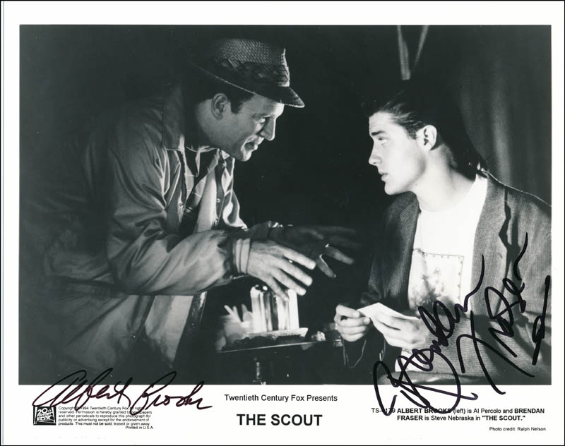 Image 1 for The Scout Movie Cast - Autographed Signed Photograph co-signed by: Albert Brooks, Brendan Fraser - HFSID 322109