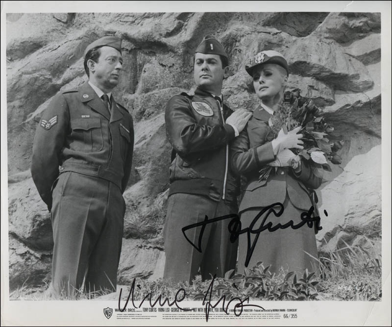 Image 1 for Not With My Wife, You Don'T! Movie Cast - Printed Photograph Signed In Ink co-signed by: Virna Lisi, Tony Curtis - HFSID 322114