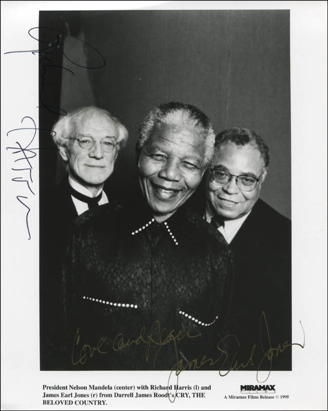 Image 1 for Cry The Beloved Country Movie Cast - Autographed Signed Photograph co-signed by: Richard Harris, James Earl Jones - HFSID 322128