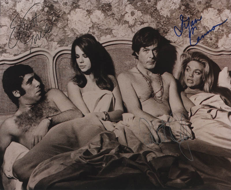 Image 1 for Bob & Carol & Ted & Alice Movie Cast - Autographed Signed Photograph co-signed by: Robert Culp, Elliott Gould, Dyan Cannon - HFSID 322193