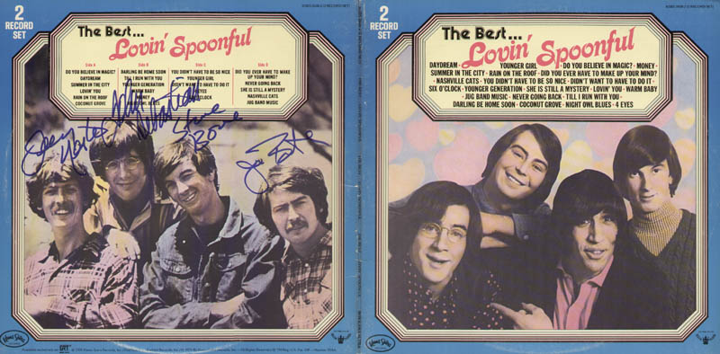 Image 1 for Lovin' Spoonful - Record Album Cover Signed with co-signers - HFSID 322202