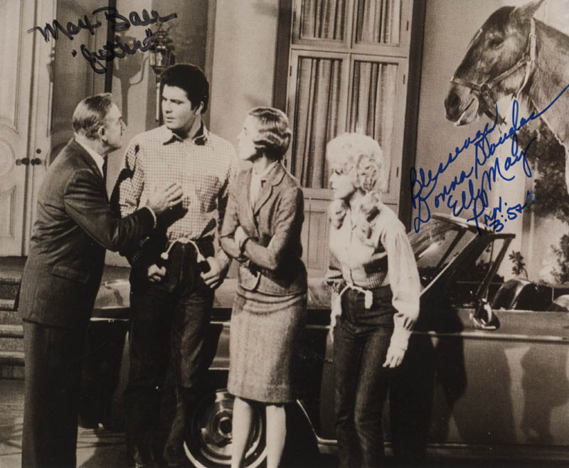 Image 1 for Beverly Hillbillies TV Cast - Autographed Signed Photograph co-signed by: Max Baer Jr., Donna Douglas - HFSID 322203
