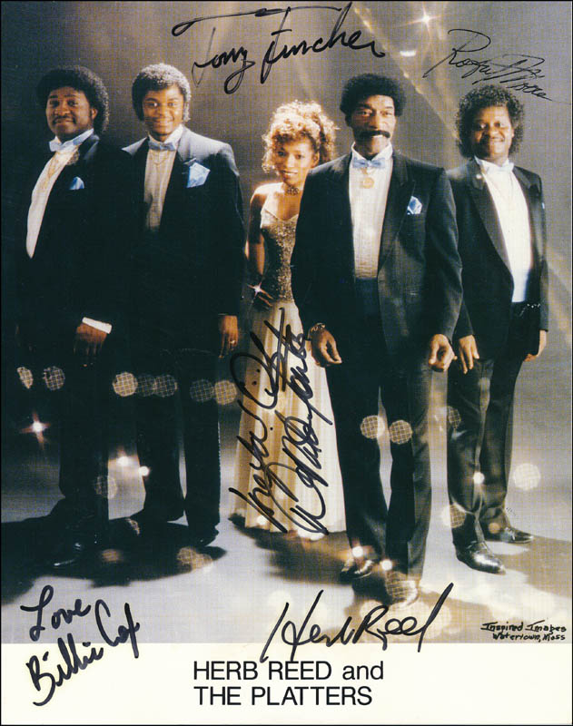 Image 1 for Herb Reed And The Platters - Autographed Signed Photograph with co-signers - HFSID 322266