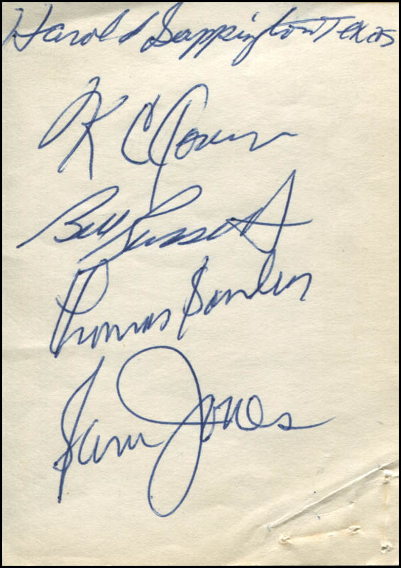 Image 1 for Boston Celtics - Autograph co-signed by: Bill Russell, K.C. Jones, Sam Jones, Tom 'Satch' Sanders, Harold Sappington - HFSID 322348