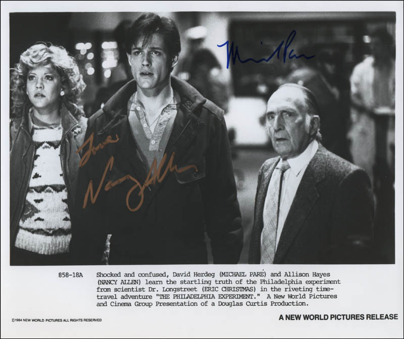 The Philadelphia Experiment Movie Cast - Photograph Signed with ...