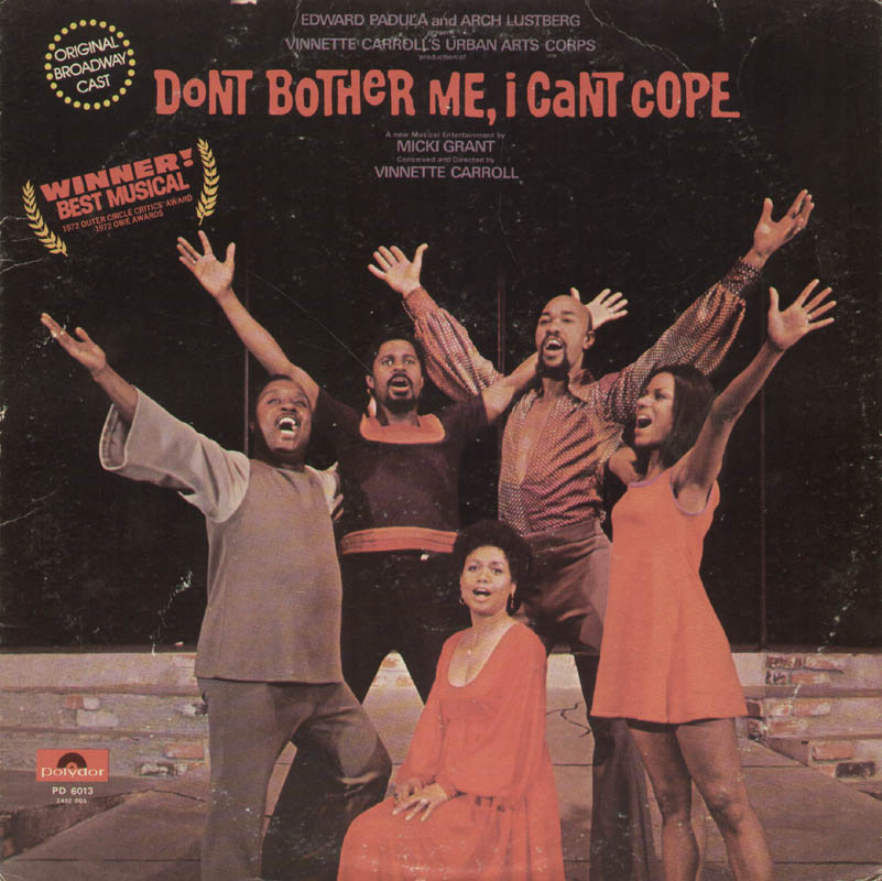 Image 3 for Don'T Bother Me, I Can'T Cope Play Cast - Record Album Cover Signed with co-signers - HFSID 322388