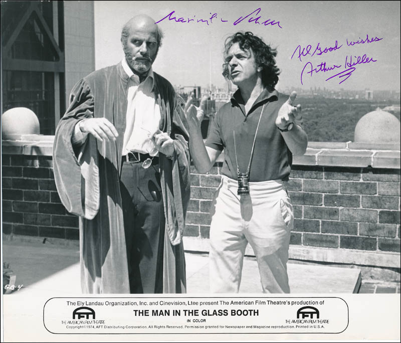 Image 1 for The Man In The Glass Booth Movie Cast - Autographed Signed Photograph co-signed by: Maximilian Schell, Arthur Hiller - HFSID 322397