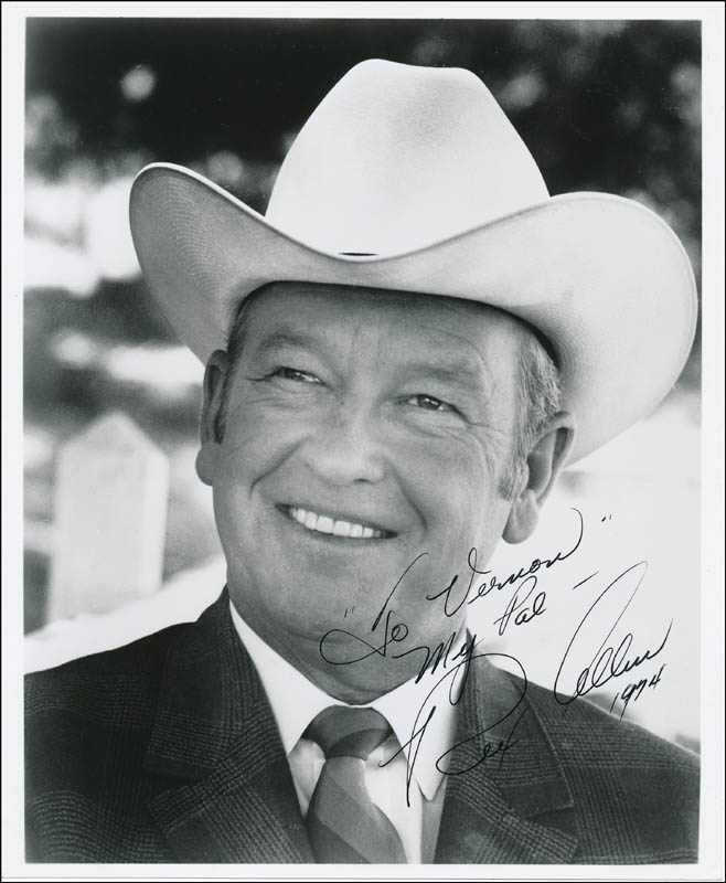 Image 1 for Rex Allen - Autographed Inscribed Photograph 1974 - HFSID 322477