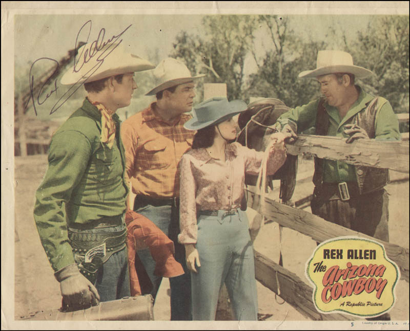 Image 1 for Rex Allen - Lobby Card Signed - HFSID 322496