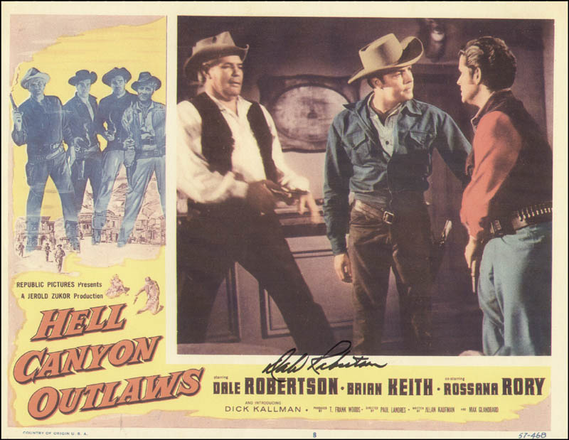 Image 1 for Dale Robertson - Lobby Card Signed - HFSID 322499