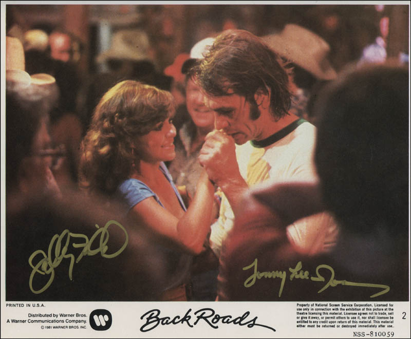 Back Roads Movie Cast Photograph Signed With Cosigners