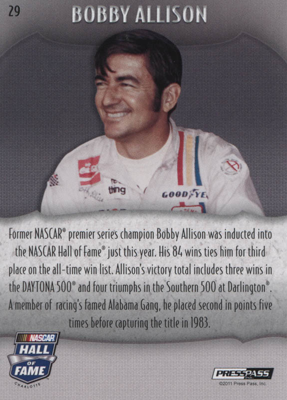 Image 3 for Bobby Allison - Trading/Sports Card Signed - HFSID 322566