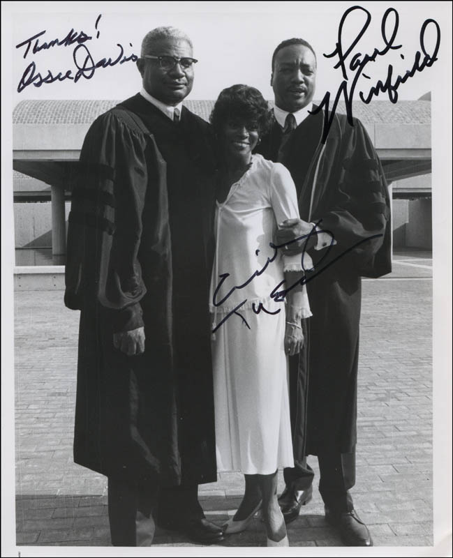 Image 1 for King Movie Cast - Autographed Signed Photograph co-signed by: Cicely Thomas, Paul Winfield, Ossie Davis - HFSID 322597