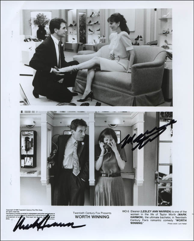 worth winning movie cast photograph signed with