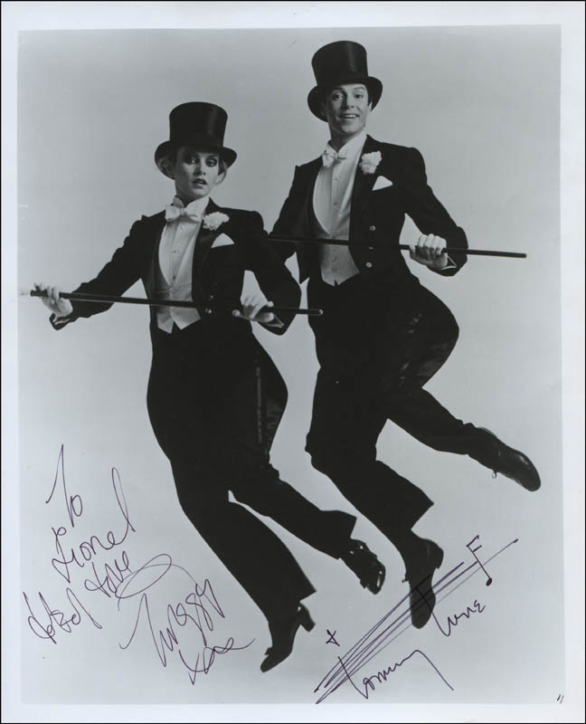 Image 1 for My One And Only Play Cast - Autographed Signed Photograph co-signed by: Twiggy, Tommy Tune - HFSID 322659