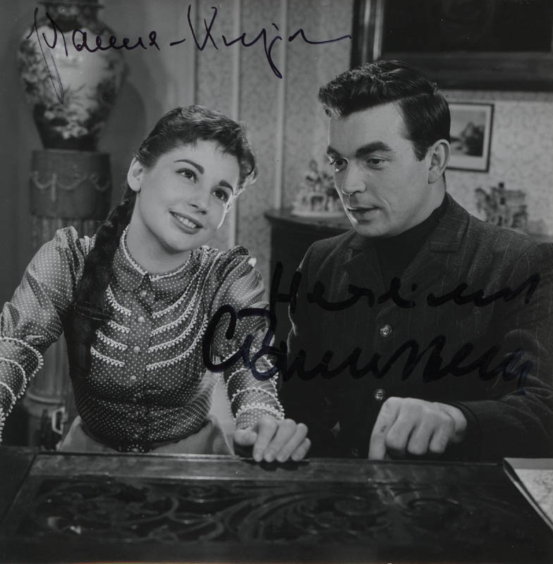 Image 1 for Petersburg Nights Movie Cast - Autographed Signed Photograph co-signed by: Johanna Von Koczian, Claus Biederstaedt - HFSID 322672