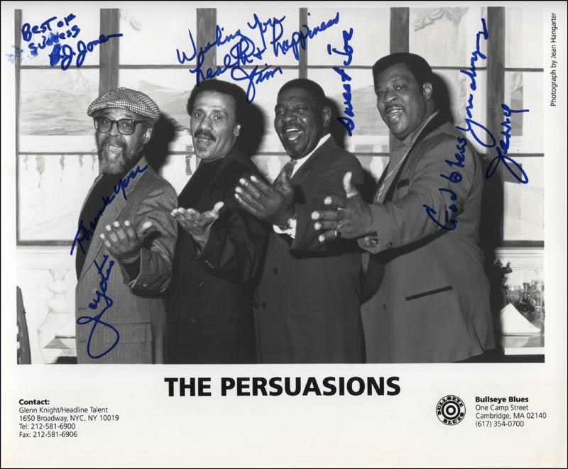 Image 1 for The Persuasions - Autographed Signed Photograph with co-signers - HFSID 322826