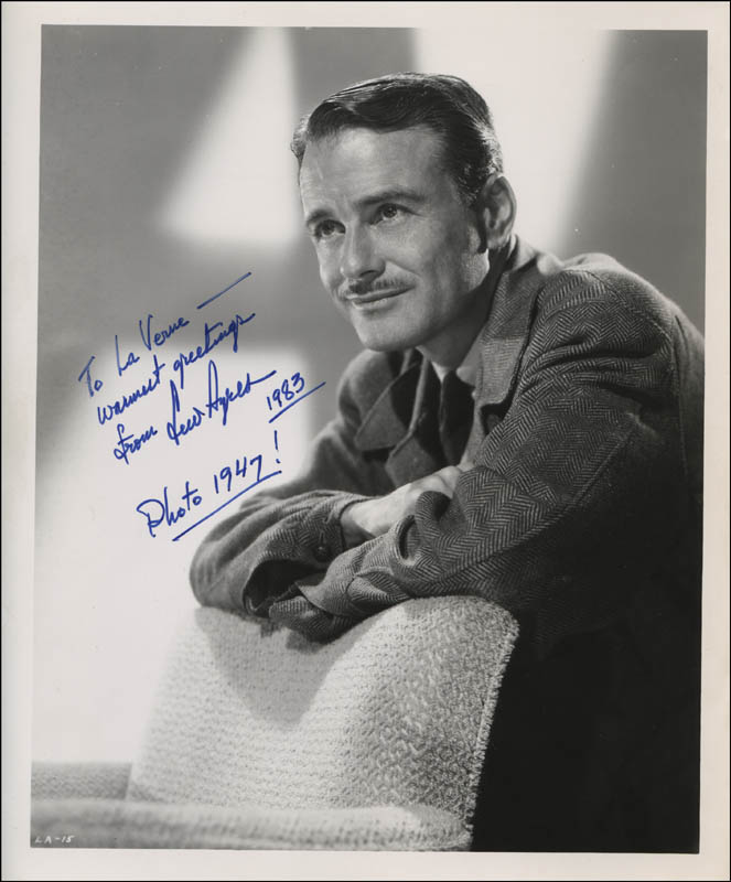 Image 1 for Lew Ayres - Autographed Inscribed Photograph 1983 - HFSID 322834