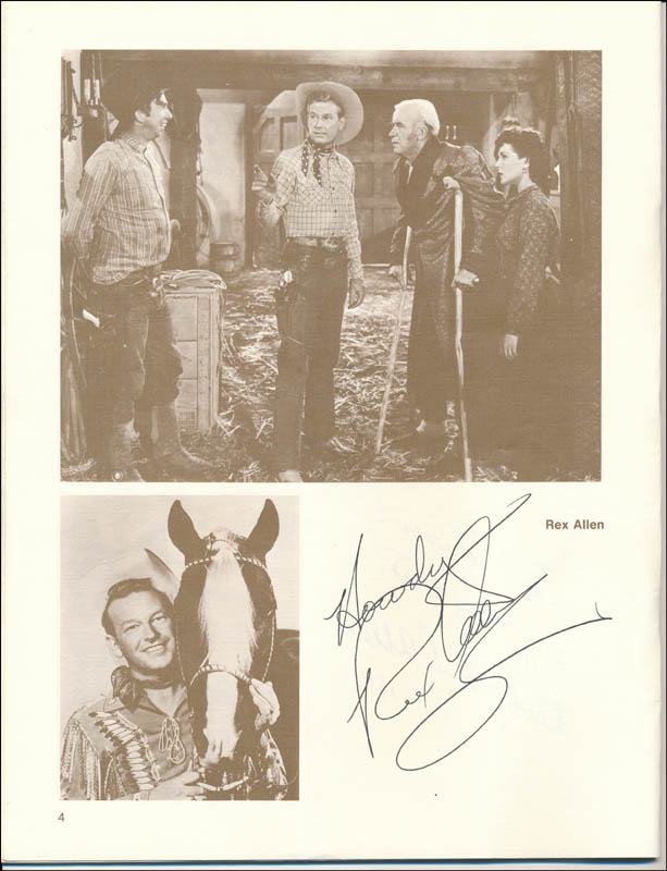 Image 3 for Bob (Robert) Allen - Inscribed Program Signed Circa 1976 with co-signers - HFSID 322939