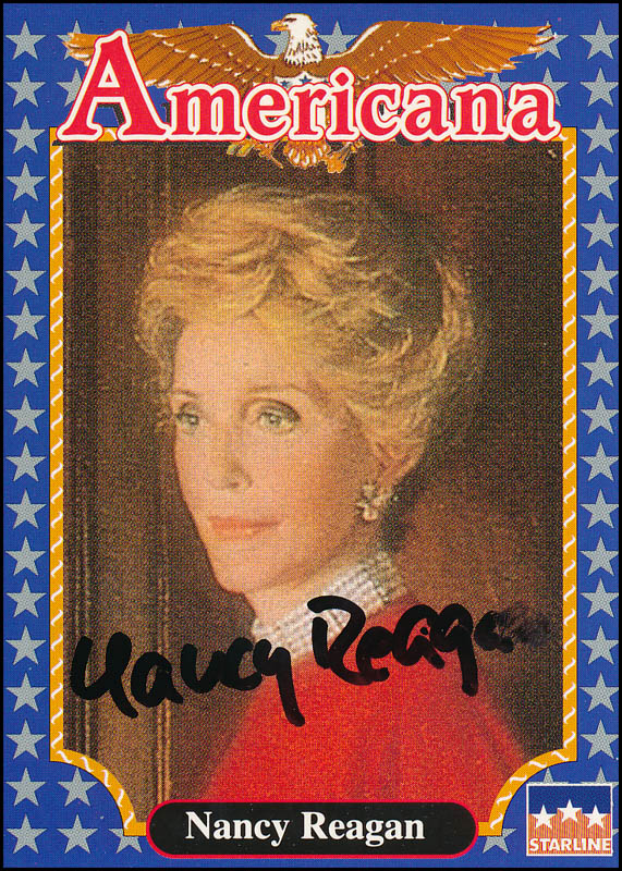 Image 1 for First Lady Nancy Davis Reagan - Trading/Sports Card Signed - HFSID 322952