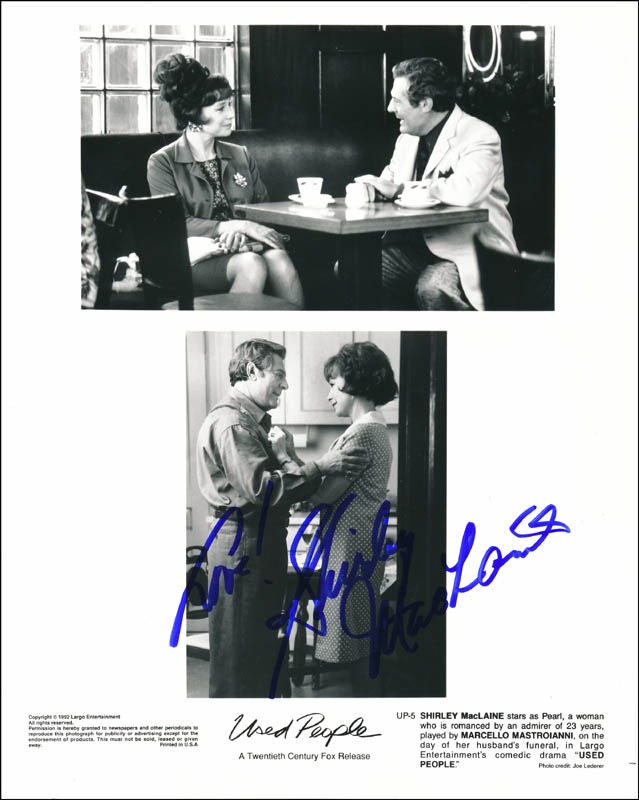 Image 1 for Shirley Maclaine - Autographed Signed Photograph - HFSID 322978