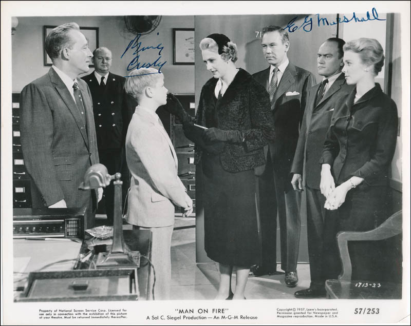 Image 1 for Man On Fire Movie Cast - Printed Photograph Signed In Ink co-signed by: E.G. Marshall, Bing Crosby - HFSID 323001