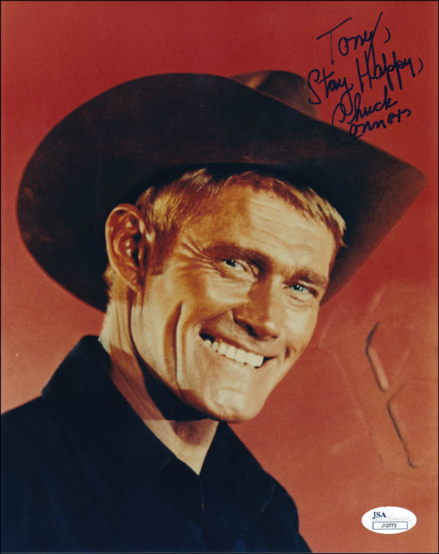 Image 1 for Chuck Connors - Autographed Inscribed Photograph - HFSID 323017