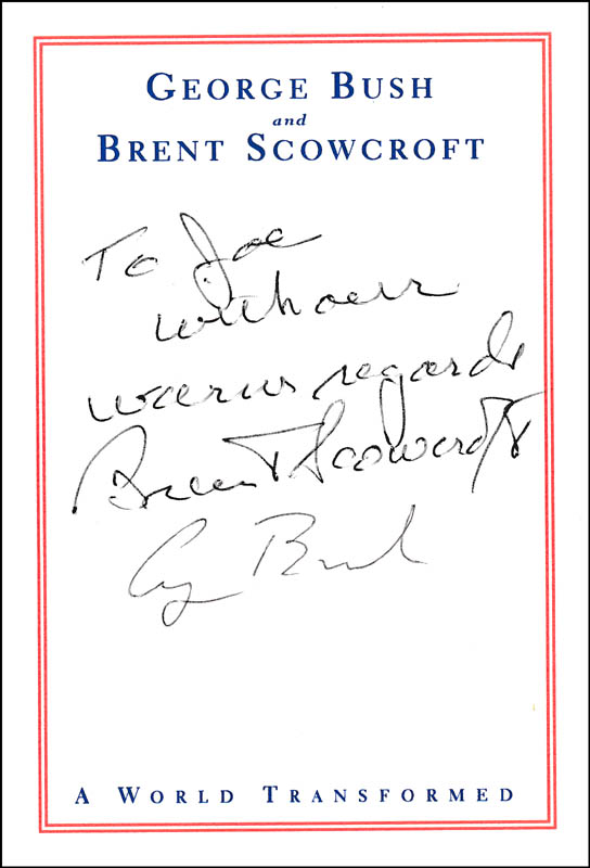Image 1 for President George H.W. Bush - Autograph Note Signed co-signed by: Brent Scowcroft - HFSID 323018