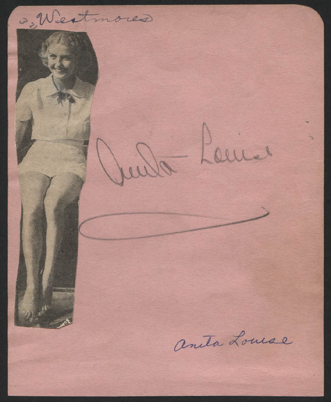 Image 1 for Anita Louise - Autograph - HFSID 323073