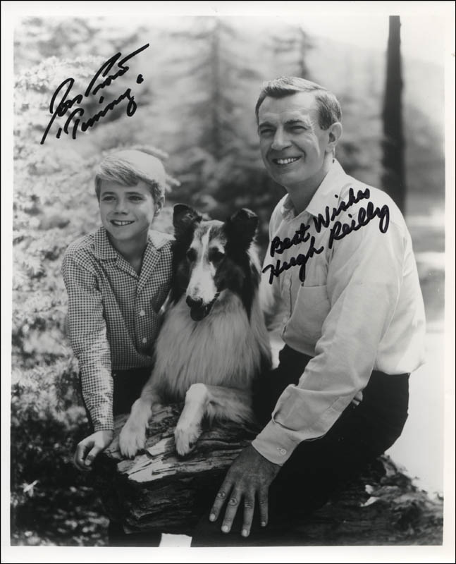 Image 1 for Lassie TV Cast - Autographed Signed Photograph co-signed by: Jon Provost, Hugh Reilly - HFSID 323079