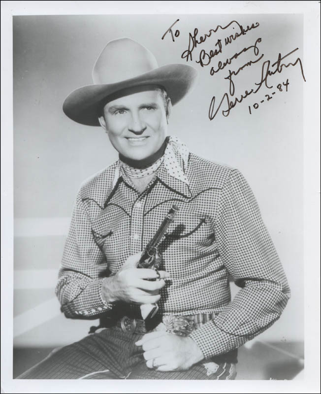 Image 1 for Gene Autry - Autographed Inscribed Photograph 10/02/1984 - HFSID 323086