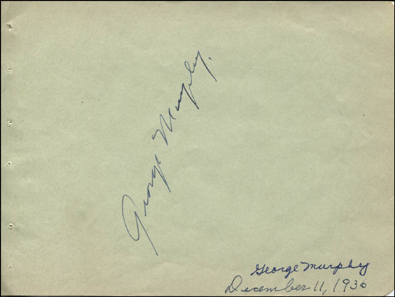 Image 1 for George Murphy - Autograph Circa 1936 co-signed by: Pinky (Truman) Tomlin - HFSID 323094