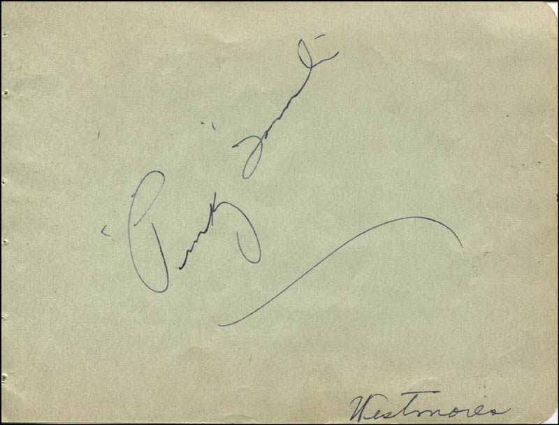 Image 3 for George Murphy - Autograph Circa 1936 co-signed by: Pinky (Truman) Tomlin - HFSID 323094