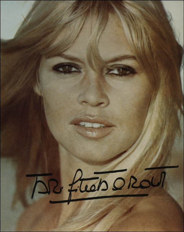 Image 1 for Brigitte Bardot - Autographed Signed Photograph - HFSID 323146