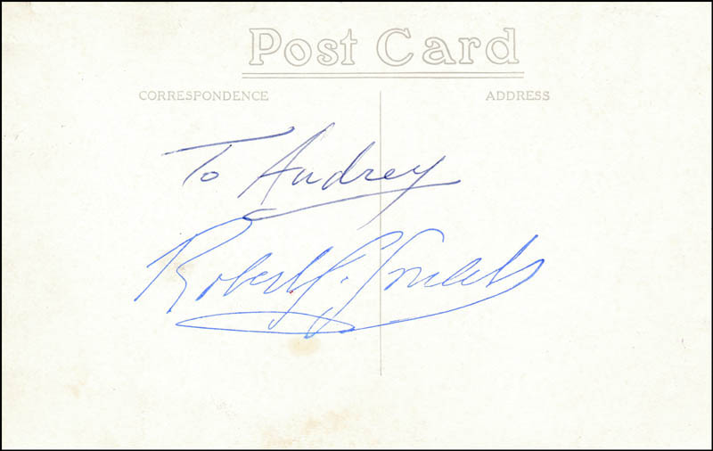 Image 1 for Robert Goulet - Inscribed Picture Postcard Signed - HFSID 323337