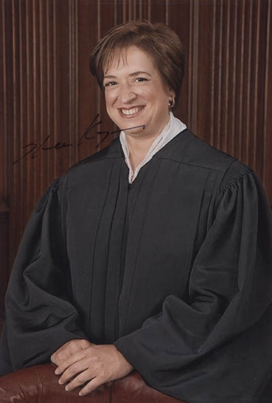 Image 1 for Associate Justice Elena Kagan - Autographed Signed Photograph - HFSID 323353