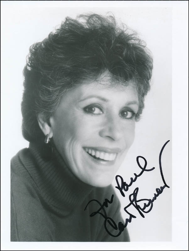 Image 1 for Carol Burnett - Autographed Inscribed Photograph - HFSID 323369