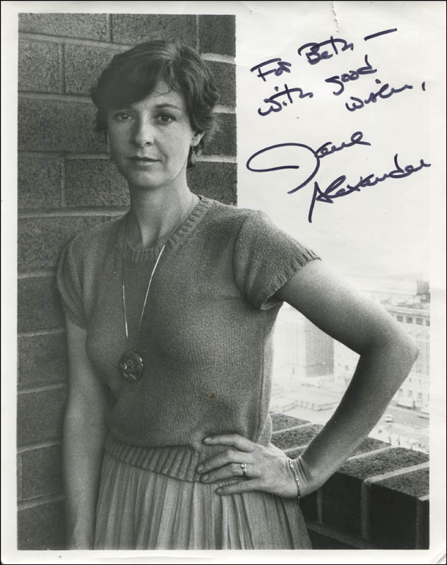 Image 1 for Jane Alexander - Autographed Inscribed Photograph - HFSID 323418