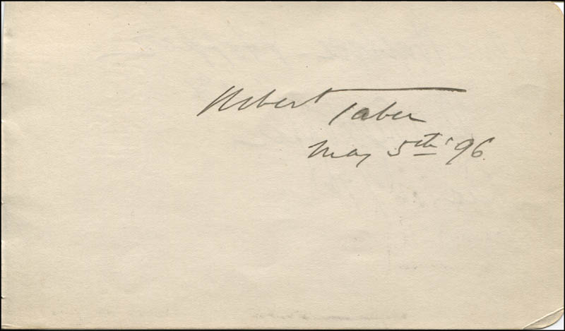 Image 1 for Robert Taber - Autograph 05/05/1896 co-signed by: Dewolf Hopper, Edna Wallace Hopper - HFSID 323523