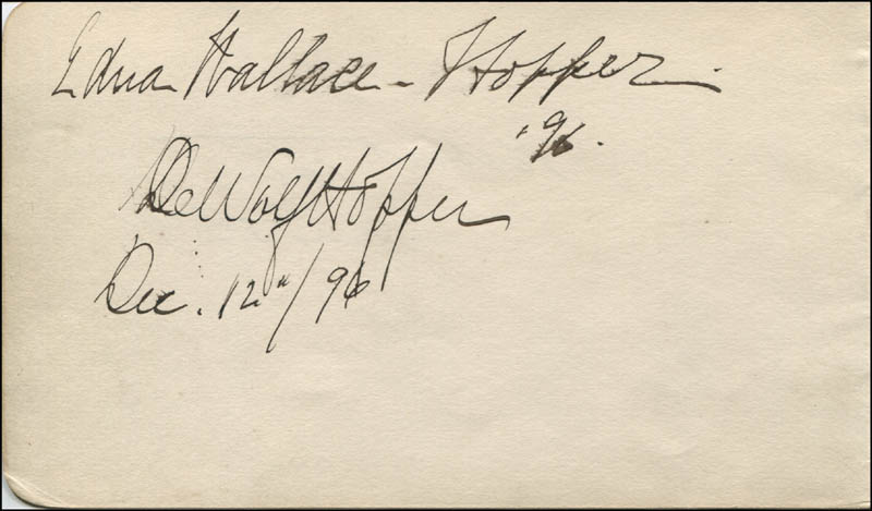 Image 3 for Robert Taber - Autograph 05/05/1896 co-signed by: Dewolf Hopper, Edna Wallace Hopper - HFSID 323523